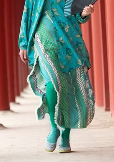 """""""Meiling"""" shawl in cotton/silk – Great Wall of China – GUDRUN SJÖDÉN – Webshop, mail order and boutiques 