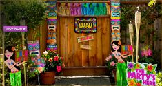 luau party supplies hawaiian luau decorations party city hawaiian baby shower decoration ideas 752x400