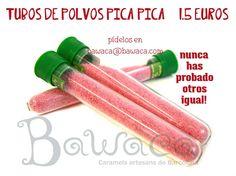 Atrévete con los tubos de polvos pica-pica de Bawaca! Pide los tuyos en www.bawaca.com