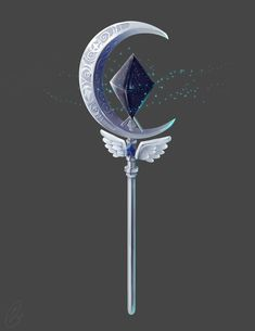 ArtStation - Magical Staff Design, Hanne K. Fantasy Jewelry, Fantasy Art, Staff Magic, Cool Swords, Anime Weapons, Magical Jewelry, Weapon Concept Art, Magic Art, Star Vs The Forces Of Evil