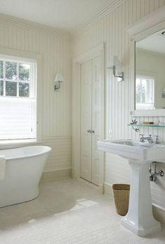 Beadboard Bathroom Ideas For Bathroom Bathrooms With Awesome Bathroom Wall Cabinet On Decor Inspiration X Bathroom Images Beadboard Paneling In Bathroom Beadboard Wainscoting, White Beadboard, Wainscoting Styles, Beadboard Backsplash, Bathroom Beadboard, Lowes Bathroom, Bathroom Paneling, Condo Bathroom, Tiny Bathrooms