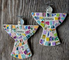 Personalized Mosaic Guardian Angel Made to Order by PeaceByPieceCo, $25.95