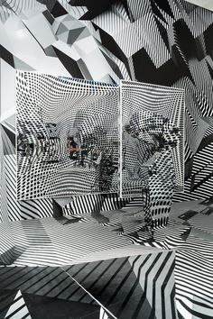 We love Tobias Rehberger's illusions » CityvisionWeb Tobias Rehberger, Dazzle Camouflage, Op Art, Optical Illusions, Art Plastique, Installation Art, Art Installations, Frankfurt, Illustration