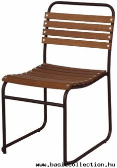 Rail - Basic collection Rail chair with metal frame, wooden seating and backrest. Suitable for cafe furniture, restaurant furniture, bar furniture. #contractfurniture #metalchair