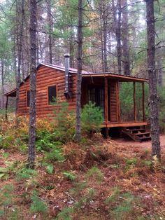 Our Little Cabin in the Big Woods Log Cabin Living, Log Cabin Homes, Log Cabins, Rustic Cabins, Little Cabin, Little Houses, Tiny Houses, Hunting Cabin, Cabin In The Woods