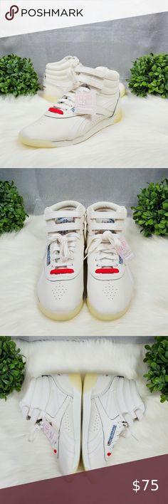 Details about Reebok Womens FS Hi WhiteChalkNeo Red Cross Training Shoes Size 9