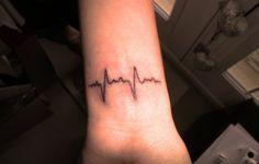 heart beat tattoo