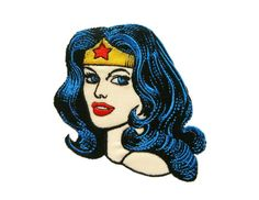 Wonder Woman DC Comics Cartoon Embroidered Applique Iron on Patch