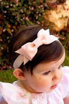 Baby Bow Set of 6 Baby headband Large Bowtie Bow Headband Diy Headband, Baby Girl Headbands, Baby Bows, Crochet Headbands, Headband Styles, Little Baby Girl, Baby Kind, Baby Girls, Diy Hair Bows