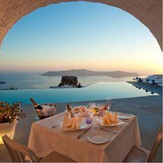Santorini Grace Boutique Hotel - Σαντορίνη www. Imerovigli Santorini, Santorini Hotels, Santorini Island, Santorini Wedding, Mykonos, Greece Wedding, Top 10 Honeymoon Destinations, Romantic Destinations, Honeymoon Spots