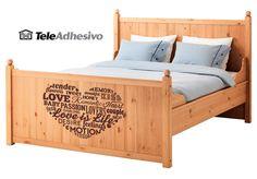 Vinilo decorativo para cama de Ikea #makea #ikea #paris #cama #decoracion #vinilo #ideas #TeleAdhesivo