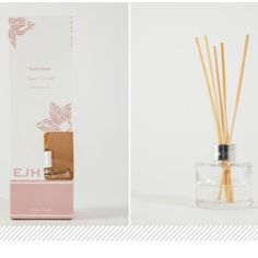 NWT Home Fragrance Reed Diffuser in Lavender Brand new in box.  Lavender home fragrance reed diffuser.  See description in fourth picture. EJH Makeup