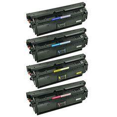 Ebay Link Ad 4 Pk Toner Cartridge Set For Hp Color Laserjet Enterprise Cf360x Mfp M577f M553n Toner Cartridge Toner Printer Toner