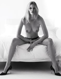 Nearly Naked Moments from the W Archives  - Lara Stone-Wmag