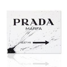 Quadro Prada Marfa schizzo nero Shop online www.declea.com