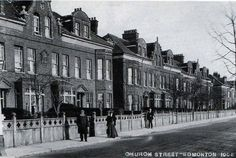 Church Street in Edmonton where keats grandparents move him and siblings to after mother dissapears Vintage London, Old London, Local History, Family History, Family Memories, Childhood Memories, North London, London Photos, Historical Photos