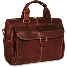Voyager Top Zip Briefcase Color: Brown