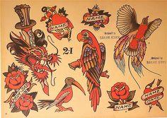 Sailor Jerry Tattoo Flash (10 Sheets): Butterflies, Devils, Pin-up Girls