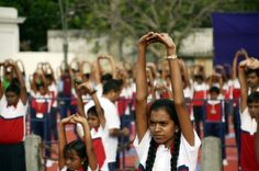 International displaying asanas during International Yoga Day held at on PC-Arvind T. Video Contest, Photo Contest, Free Photos, Cool Photos, International Yoga Day, Pondicherry, School Children, Asana, Photo And Video