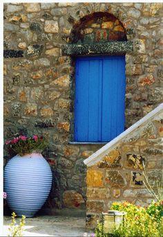 Greek window - Chios Island, Greece