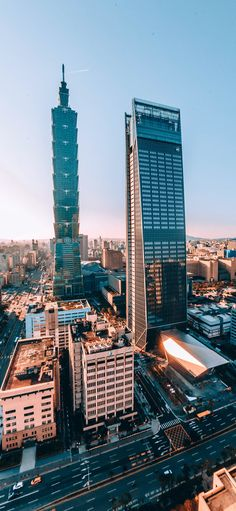 Scenery Taiwan 101 buildings city is street sunrise Wallpapers for iPhone X, iPhone XS and iPhone XS Max - Free Wallpaper | Download Free Wallpapers