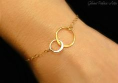 Infinity Circle Bracelet - Mixed Metal Eternity Bracelet