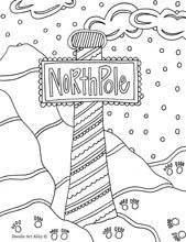 free north pole coloring pages - photo#27