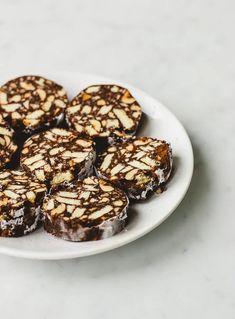 Chocolate Salami - Pretty. Simple. Sweet. Chocolate Hazelnut, Simple, Sweet, Pretty, Wafer Cookies, Recipes, Candy