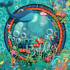 Shadow Box, Digital Scrapbooking, How To Find Out, Bubbles, Neon Signs, Make It Yourself, Gallery, Creative, Summer