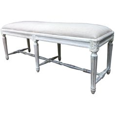 French Styled Bed End Ottoman or Bench - White – Allissias Attic & Vintage French Style
