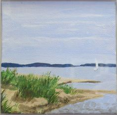 """""""Erie Shores"""" painting in CAC's gift shop."""