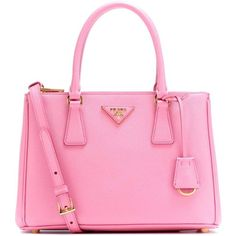 Prada Galleria Saffiano Small Leather Shoulder Bag ($2,215) ❤ liked on Polyvore featuring bags, handbags, shoulder bags, purses, pink, leather purses, purse shoulder bag, hand bags, pink shoulder bag and handbags shoulder bags