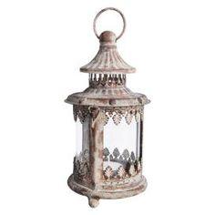 Aged Metal Lantern - Tealight Holder - Rustic Lantern by Fallen Fruits Old Lanterns, Small Lanterns, Rustic Lanterns, Hanging Lanterns, Fallen Fruits, Aging Metal, Esschert Design, Shabby, Oil Lamps