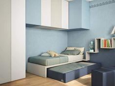 Trundle bed for kids' bedroom LAGOLINEA by Lago design Daniele Lago
