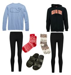 """""""Lazy day outfits"""" by tifanisolano on Polyvore featuring Vineyard Vines, Donna Karan, UGG Australia, Knights Apparel and Hue"""