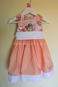 """Pedacinhos de Arco Íris: Conjunto """"Fairies Garden"""" - vestido de menina e gravata de menino (toddler dress + boy's tie)"""