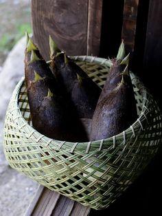 スズ竹四ツ目籠 野菜籠 竹かご 竹カゴ フリーボックス 収穫かご 竹細工 bamboo 虎斑竹専門店 竹虎