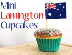 Baking With Kids: Mini Lamington Cupcakes Recipe. A cooking with kids twist on an Australian classic. Australian Recipe For Kids, Australian Food, Australian Recipes, Kids Party Snacks, Aussie Food, Classic Cake, Baking With Kids, Australia Day, Thinking Day