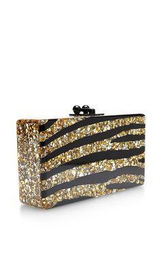 Jean Zebra Glitter Clutch by Edie Parker - Moda Operandi