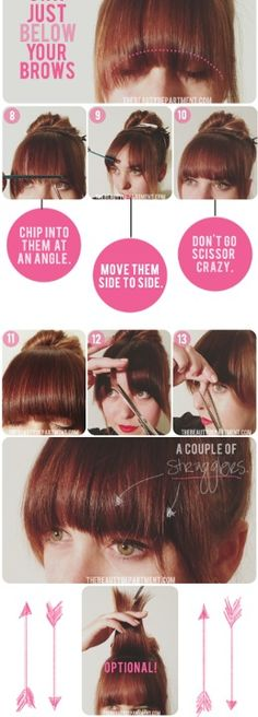 Cut your own straight bangs!