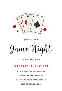 Game Night printable invitation template. Customize, add text and photos.  Print, download, send online or order printed!  #invitations #printable #diy #template #sports #party #sport