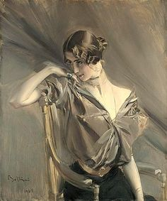 Giovanni Boldini 1901 | Cléo de Mérode (1875-1966), an international sensation, one of the the most photographed woman in the world in her time, was a French ballerina, who achieved fame with her face, not her feet. Born in Paris, Cléopatra Diane de Mérode belonged to a Belgian noble family of some means; her father, Karl von Merode, was a landscape painter.