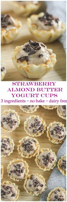 No Bake Strawberry Almond Butter Yogurt Bites Ingredients, Dairy Free} Bakery Recipes, Real Food Recipes, Yummy Food, Healthy Recipes, Fun Food, Delicious Recipes, Homemade Desserts, No Bake Desserts, Dessert Recipes