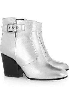 Giuseppe Zanotti silver ankle boots, currently 50% off at NET-A-PORTER. They will be mine. Oh yes, they will be mine.