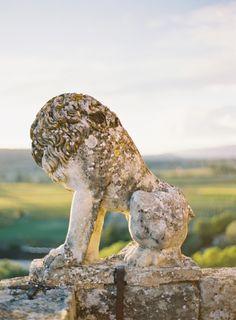Ansouis Chateau Lion   photography by http://JenHuangPhoto.com