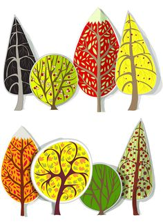 fall trees Set of 8 vector cartoon fall trees templates with yellow leaves for your stylized illustrations, decorations, banners, cards and fall backgrounds. Diy Canopy, Fabric Canopy, Girls Canopy, Window Canopy, Beach Canopy, Canopy Curtains, Canopy Bedroom, Backyard Canopy, Flower Doodles