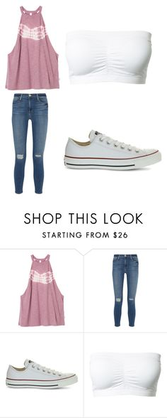 """Outfit 948"" by that-girl-j ❤ liked on Polyvore featuring RVCA, Frame Denim and Converse"