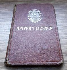 1922 County of Surrey Drivers Licence Vintage Driving Surrey, Motor Car, Etsy, Ephemera, Vintage, Car, Automobile, Vintage Comics