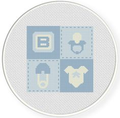 FREE for Dec 26th 2016 Only -  Baby Boy Quilt Cross Stitch Pattern