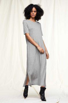 Drykorn Damen Maxikleid Jannie Hellgrau | SAILERstyle Trends, Designer, Shirt Dress, Tops, Dresses, Fashion, Hot Pink Fashion, Under Dress, Clothing